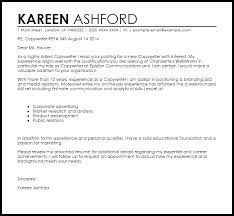 How To Write A Cover Letter For A Copywriting Job Copywriter Cover Letter Sample Cover Letter Templates