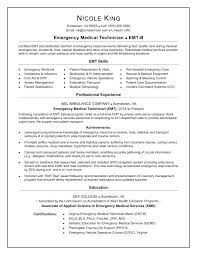 Emt Resume Examples Resumes Emt B Resume Examples Noxdefense Com