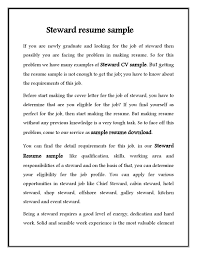 Sample Hotel Resume Cv Resume Samples Free Hotel Steward Cv Resume Sample Free Download 40
