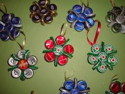 Christmas Decorations Made Out Of Plastic Bottles Bottle Cap Christmas Ornaments The Yule Log 100 100