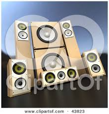 sound system clipart. set of wooden sound system speakers by frank boston clipart