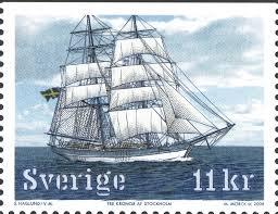 Sweden 11kr Sailing Ships 2008 Tre