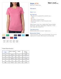 Customink Com Size Chart Next Level Shirts Sizing Rldm
