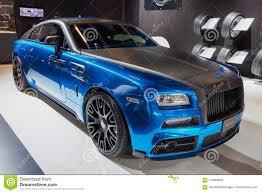 Mansory Rolls Royce Wraith Custom Luxury Car Editorial Photo Image
