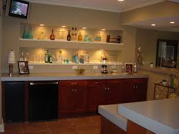 basement bar lighting. Recessed Lighting Under Cabinet With Small Basement Bar And Tile Flooring Plus White Wood Shelving L