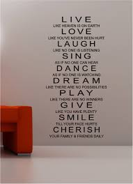 wall art decor ideas live inspirational quotes wall art love laugh sing dance dream play give  on inspirational quotes wall art with wall art best pictures inspirational quote wall art diy