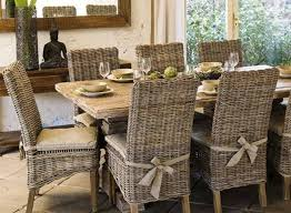 glass dining table with wicker chairs. rustic dining table and wicker parsons chairs : for . glass with 0