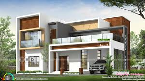 Square House Roof Design 2852 Square Feet Flat Roof Contemporary House Plan Kerala