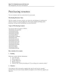 Purchasing Resume Objective Cover Letter Purchasing Resume Objective Purchasing Buyer Resume 13