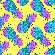 Pineapple Pattern Fascinating Pineapple Creative Trendy Seamless Pattern Royalty Free Cliparts