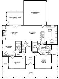 Small Picture 653881 3 Bedroom 2 Bath Southern Style House Plan with wrap