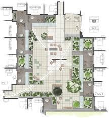 intensive residential green roof rendered roof garden plan
