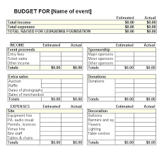 Downloadable Excel Budget Template Sports Team – Poquet