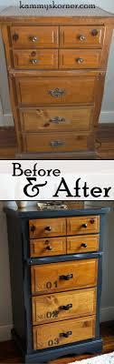 diy furniture refinishing projects. kammyu0027s korner belt strap pulls on a two tone dresser stenciled numbered drawers diy furniture refinishing projects