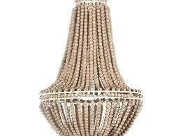 wood beaded chandelier turquoise wooden light fixture