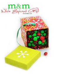 make a fun m m white elephant gift for this year with a pretend box of candy