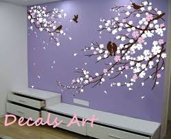 cherry blossom branches with birds