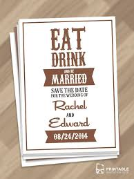 downloadable save the date templates free free pdf download eat drink and be married save the date