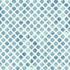 Artisan Tile Wallpaper in Blue and White design by Carey Lind for York  Wallcoverings ...