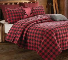 cabin themed bedding tartan