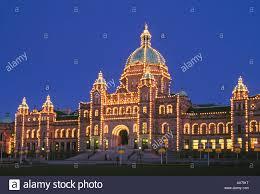 Victoria Parliament Building Lights Parliament Building With Lights On At Dusk Victoria
