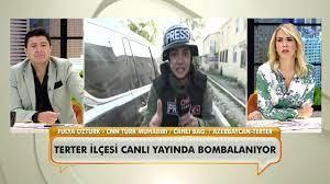 CNN Türk muhabiri Fulya Öztürk, Azerbaycan'dan canlı bağlantı yaparken  bombalar yağdı! - YouTube