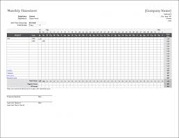 Employee Time Off Tracking Spreadsheet Monthly Timesheet Template For Excel Free Employee Time Off Tracking