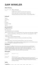 Tennis Instructor Resume samples