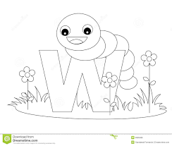 Small Picture Animal Alphabet W Coloring Page Royalty Free Stock Image Image