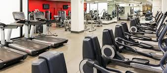 hilton chicago o hare airport il hotel fitness center cardio