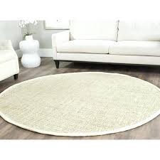 impressing 7 ft round jute rug of foot white x area bleached
