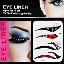 temporary tattoo eye shadow transfers eyeliner stickers masquerade make up leopard print