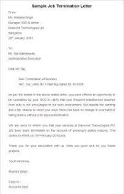 Sample Job Termination Letter, Job Termination Template ...