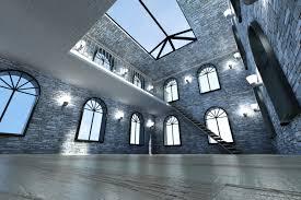 big living room vaulted