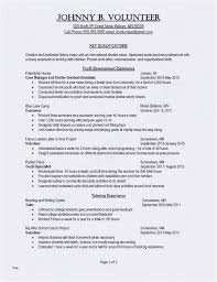 Resume Template For College Student With No Work Experience New Job