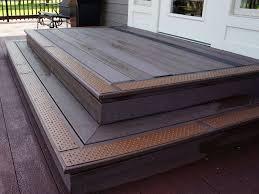 exterior stair treads and nosings. handi treads non slip brown exterior stair and nosings p