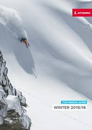 Ski Din Chart 2016 2015 2016 Atomic Alpine Technical Manual By Amer Sports