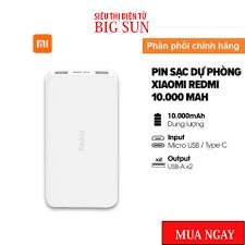 Sạc dự phòng Xiaomi Redmi 10000mAh/20000mAh PB100LZM- Pin sạc dự phòng  Xiaomi Fast Charge Redmi 18W Bảo hành: 6 Tháng chính hãng 229,000đ