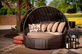 Wonderful Modern Patio Round Bed Turns Simple Outdoor Space Into An  Pertaining To Outdoor Patio Bed Attractive