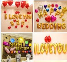 baby birthday wedding party balloon decoration aluminum foil aluminium golden letters setting wall plans birthday balloon delivery wedding balloon from