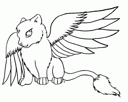 Small Picture 11 Pics Of Cute Winged Wolf Coloring Pages Wolves Coloring Pages
