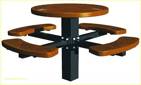 lifetime round picnic table round picnic tables post mount round perforated picnic table