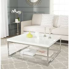 showing gallery of white and chrome coffee tables view 12 20 photos