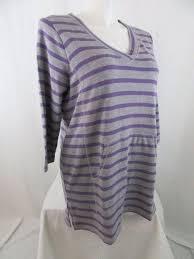 Liz Claiborne Size Chart Details About Liz Claiborne Size 3x Gray Purple Stripe Athleisure 3 4 Sleeve Top