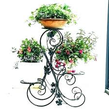 iron plant hanger stand standing 3 tier black floor free 4 arm ha wrought air hangers