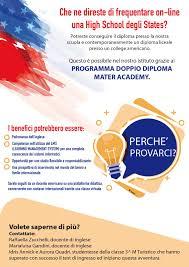 PROGRAMMA DOPPIO DIPLOMA MATER ACADEMY: frequentare on-line ...