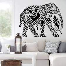 Decor Art Design Art design home decoration PVC cute elephant wall sticker waterproof 2
