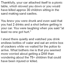 mom writes letter to drunk driver who backed her car onto the beach  drunk 2