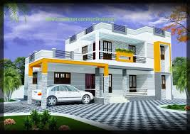 2000 sq ft 3 bhk modern house design