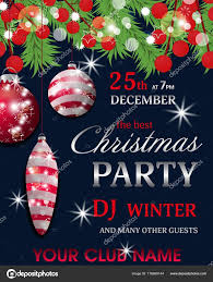 017 Free Christmas Party Invitations Templates Depositphotos